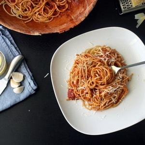Рецепт спагети к кофе